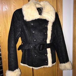 GUESS Double Faux Fur Lined Coat